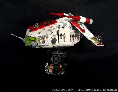 Display stand 3D slots for Lego 75021-7676 Republic Gunship