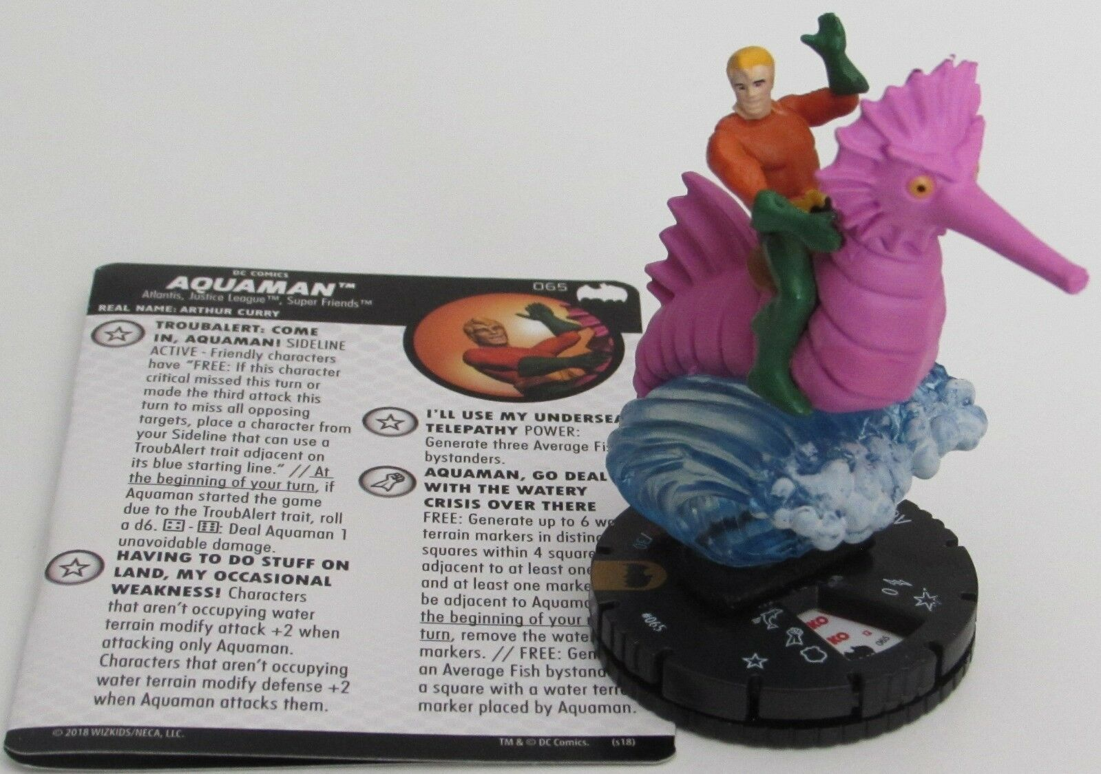 AQUAMAN 065 Batman  The Animated Series DC HeroClix Chase Rare