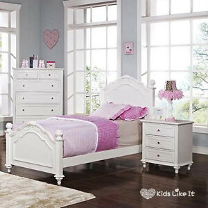 Image Is Loading WHITE French Provincial TIMBER GIRLS Bedroom SET HARD