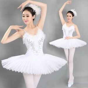 3336612f5 Women's Professional Swan Lake Tutu Ballet Costume Hard Organdy ...