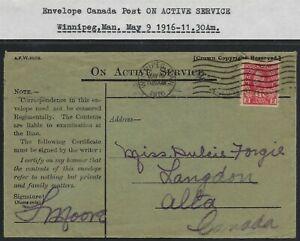 Scott-MR6-2c-1c-War-Tax-Coil-1916-Winnipeg-cancel-ON-ACTIVE-SERVICE-envelope