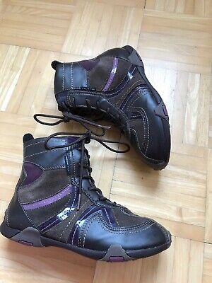 GEOX Schuhe Halbhoch Boots Stiefel Stiefeletten Gr. 34 Mädchen BraunLila Leder   eBay