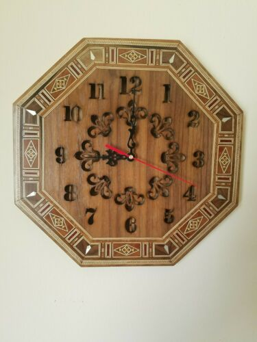 Octagonal Shape Size 11.8 X 11.8/'/' Mosaic Wall Clock,Handmade Great Gift Idea