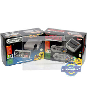 1-x-BOX-PROTECTOR-for-SNES-Mini-NES-Classic-Nintendo-Game-Console-0-5mm-Plastic