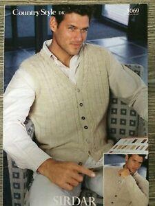 Sirdar Knitting Pattern: Mens Cardigan & Waistcoat, DK, 38 ...