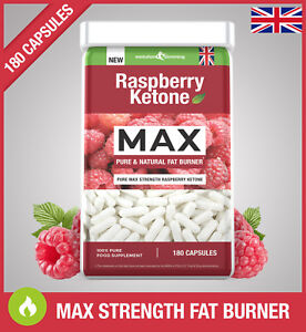 Raspberry-Ketone-MAX-PURE-FAT-BURNER-180-CAPSULES-Super-Strong-Weight-Loss-UK