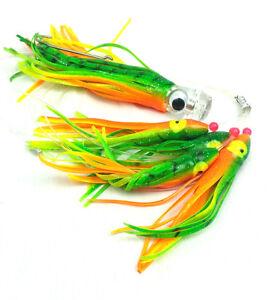 Big Game Wahoo Saltwater FISHING LURE Mahi Tuna Marlin Epoxy Resin Head Orange