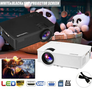 7000 Lumens 3D Full HD 1080P Mini Projector LED Multimedia Home Cinema HDMI VGA