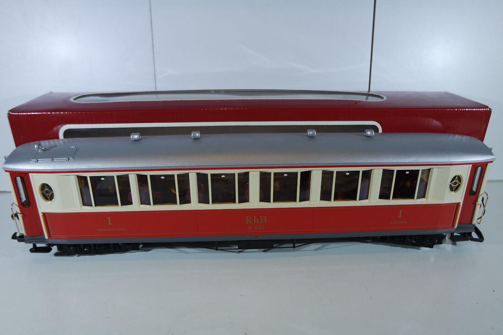 LGB 30650 pullmannwagen RHB, con illuminazione interna, molto bene in scatola originale
