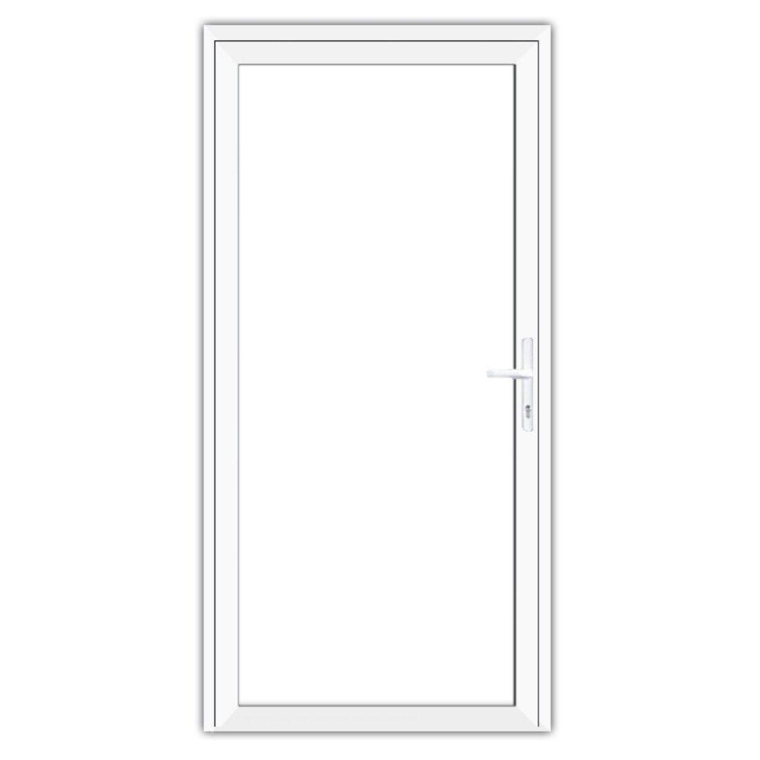 Aluminium Nebentür Nebeneingangstür Glastür Komplettglas innenöffnend Klarglas