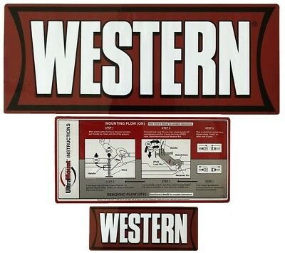 Western Snow Plow Factory Original Uni-Mount Decal Label Sticker ...