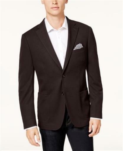 Bar III Slim Fit Knit Sport Coat Red Mens Size 38R New