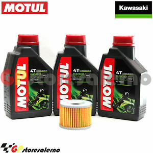 KIT-TAGLIANDO-OLIO-FILTRO-MOTUL-5000-10W40-3LT-KAWASAKI-550-GT-2000