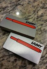 2 Boxes LAMY T10  COPPER ORANGE INK CARTRIDGES - 10 CARTRIDGES