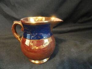 Copper-Luster-Creamer-Blue-Decorative-Band-3-inches-h