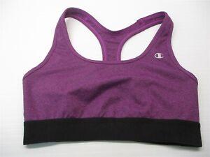 CHAMPION-Women-039-s-Size-M-Compression-Purple-Racerback-Running-Sports-Bra