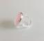 Marca nuevo conjunto anillo ovalado plata esterlina grande con un cabujón de Cuarzo Rosa J-R
