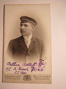 Stuttgart-probablement Sokol Hercynia-ss 1900-arthur Adleff-cdv/studentika-afficher Le Titre D'origine