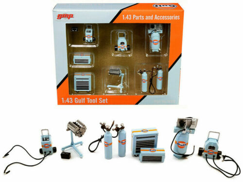 GULF Werkstatt Tool SET Engine Pressure Gas Toolbox Charger diecast* GMP 1:43