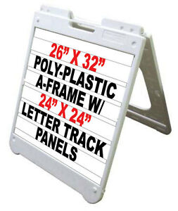 26quotx32quot poly plastic a frame sandwich board sidewalk for Sign letter track kit