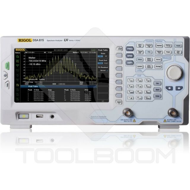 Spectrum Analyzer RIGOL DSA815+TG (Tracking Generator)