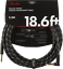 18.6/'ft Straight-Right Angle Fender Deluxe BLACK TWEED Guitar//Instrument Cable