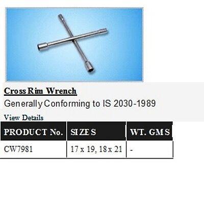 Cross Wheel Spanner 4WAY 17 X 19 / 18 X 21mm TAPARIA