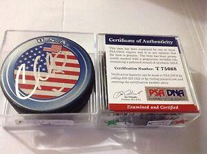 Cory Schneider Signed Team U.S.A. USA Hockey Puck PSA/DNA COA Autographed b