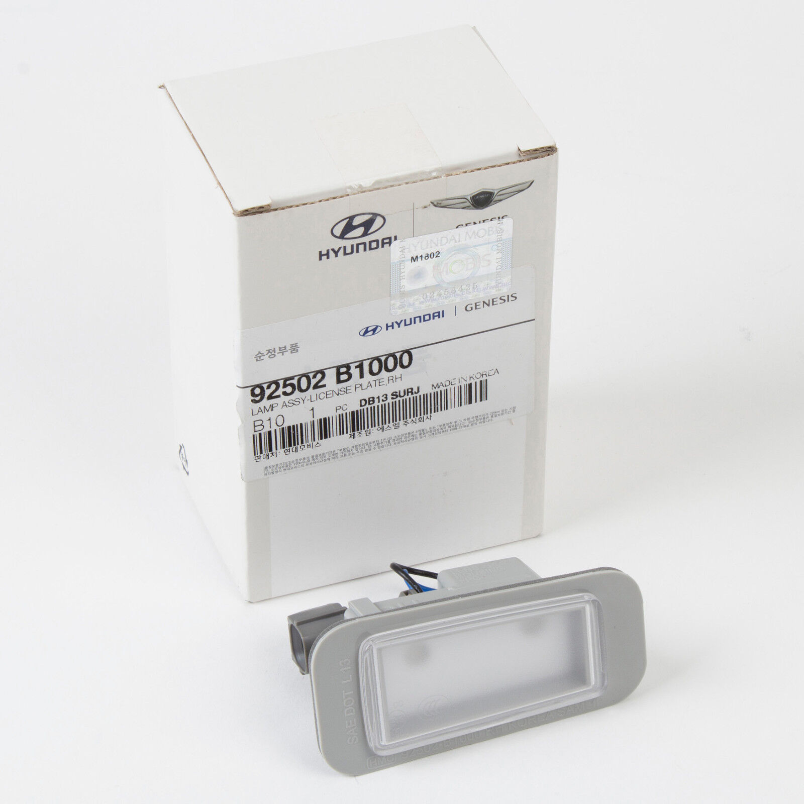 Genuine Hyundai 92502-1M400 License Plate Lamp Assembly Right