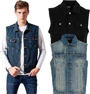 Noir Bleu Denim Hommes Jeans Veste En Classics Gilet Urban Jean FS8q7w