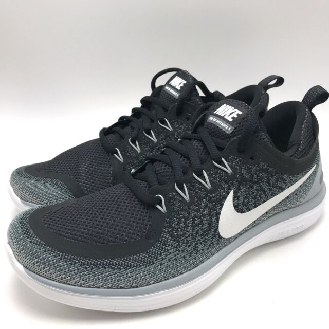 Nike Free RN Distance 2 Women's Running Shoes BlackWhite Cool Grey 863776 001