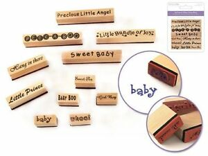 image is loading forever in time wooden rubber stamp words baby