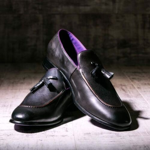 Slip £185 10 Black Gray Rrp On Loafers Grey And Shoes Size Eves FzqEwxPXn6