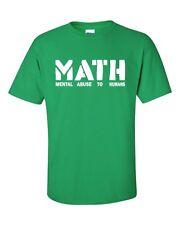 MATH Mental Abuse To Humans School Teacher Teens Funny Men's Tee Shirt