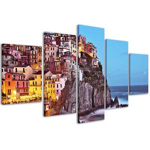 Stampe su tela 200 x 90 cm Quadro Moderno XXL Cinque Terre Manarola Stampa #101