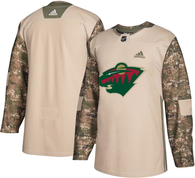 Military Camo Khaki 2017 Minnesota Wild 258j adidas NHL Authentic ... 81d2d8896