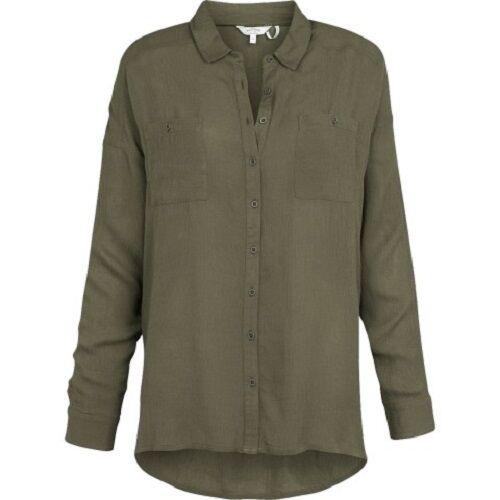 Fat Face - Women's - Lizzie Crepe Shirt - Green - 100% Viscose - BNWT