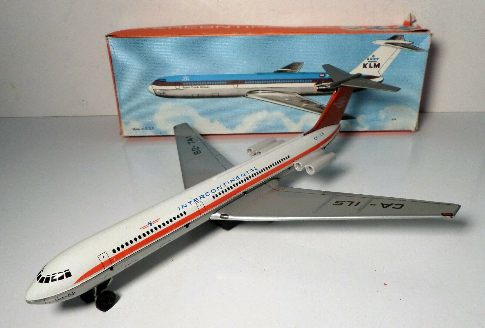 Friktionsplanet Intercontinental KLM Airliner Royal Dutch Airlines w  Box
