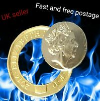 New One pound £1 close up magic restore the hole/objects through the coin trick