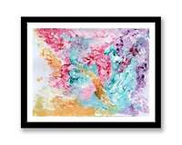Pink Purple abstract - print of abstract painting unique gift ID : 1334