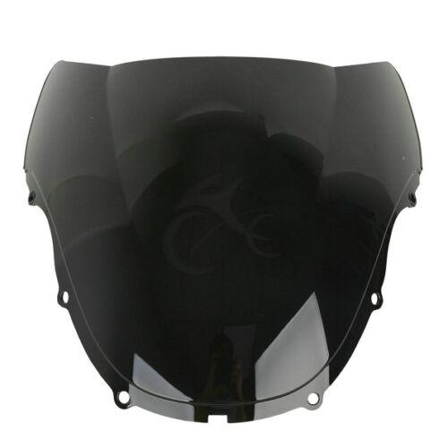 Black Dual Bubble Windshield Windscreen For Honda CBR600 F4 1999-2000 USA Ship