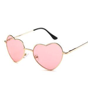 ea7652179 Image is loading Vintage-Lolita-Heart-Shaped-Sunglasses-Metal-Frame-Glasses-