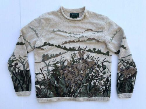 Handknit Rare Ralph Lauren Vintage Cotton Deer Pri