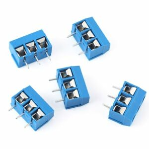 3-way-3-Pin-Plug-in-Terminal-Screw-Block-Connector-Pitch-Panel-PCB-Mount-50pcs
