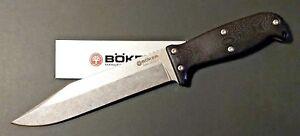 Exklusive-BLACK-Edition-Boeker-German-Expedition-Knife-Vollgriff-G10-Lederscheide