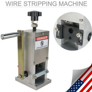Manual Wire Stripping Machine Copper Cable Peeling Stripper w// Drill Connector