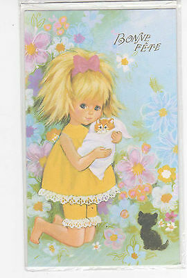 Carte Bonne Fete Fille.Carte Bonne Fete Neuve 11 5 Cm X 19 5 Cm Decor 1 Petite