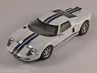 Ford Gt40 In White With Blue Stripe 1/43 Scale Model