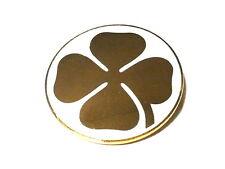 Fregio stemma ALFA ROMEO QUADRIFOGLIO ORO 70mm gold cloverleaf badge logo new