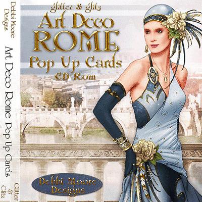1 x Debbi Moore Designs Art Deco Rome Pop Up Cards CD Rom (292315)